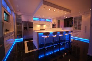 All white with modern and luxury lightings