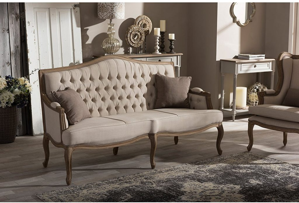 Baxton Furniture Studios Oliver French Provincial Style - Cabriole Sofa
