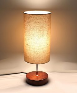Minimalist Sandalwood Base Living Room Indoor Desk Lamp