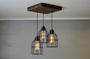 Old Elm Wood Multi Pendant Light
