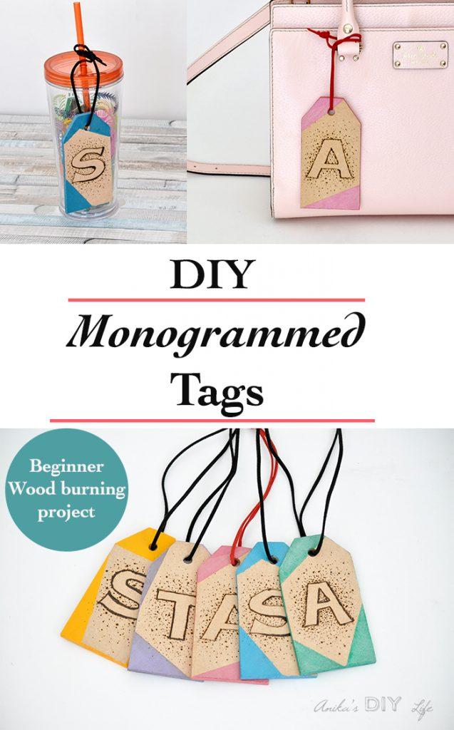 DIY Monogrammed Tags
