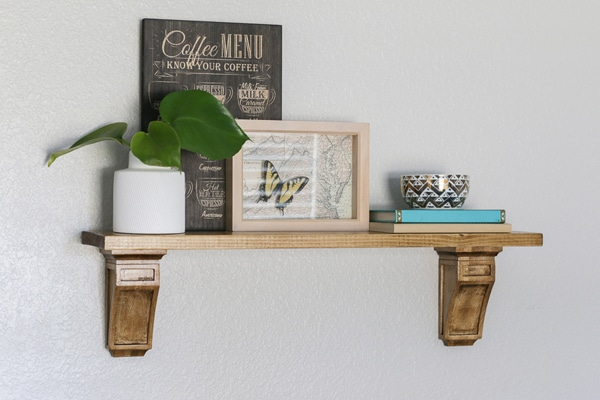 DIY Wall Shelf with Corbels
