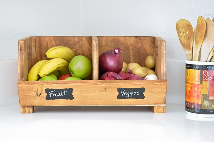 Easy DIY Vegetable Storage Bin