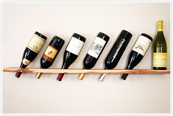 Wooden Plank Wine Rack