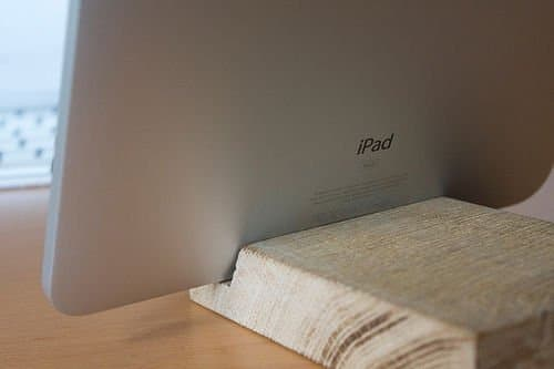 Wooden iPad Dock