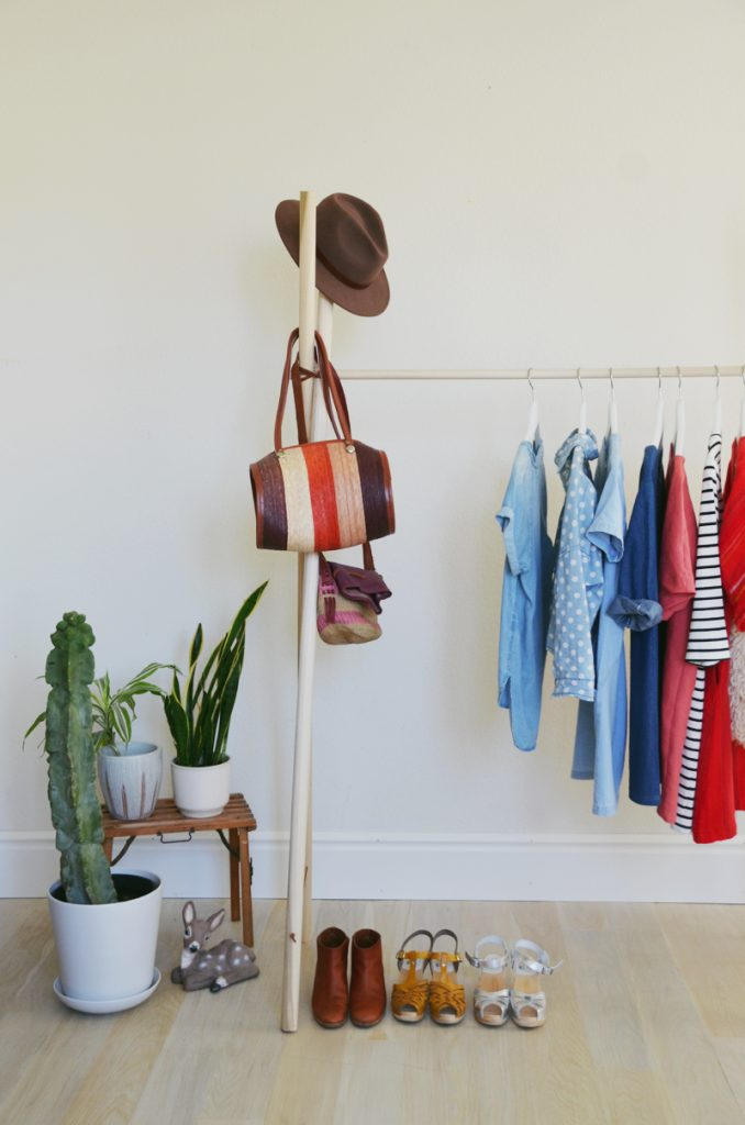DIY CLOTHING RACK