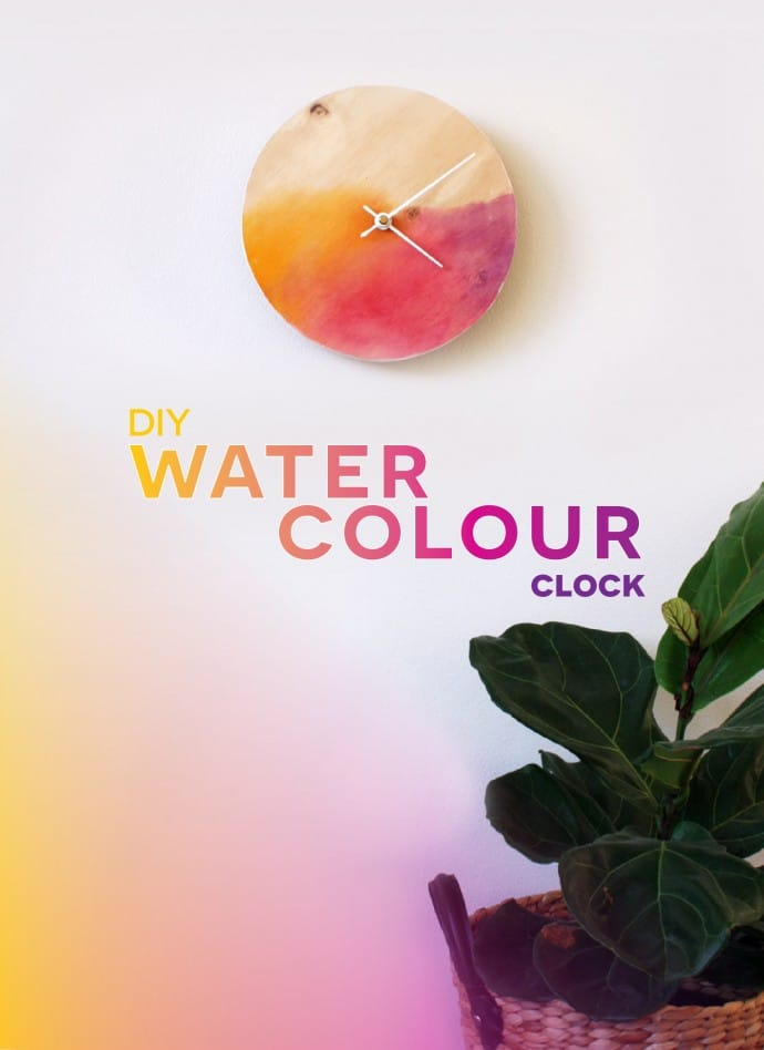 DIY Watercolour Clock