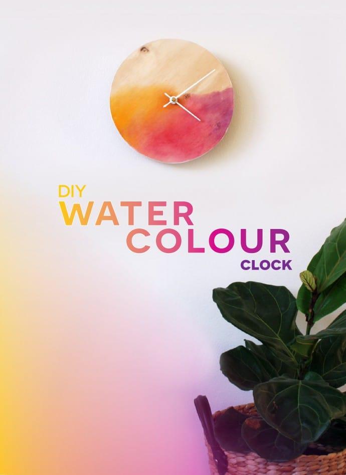 DIY Watercolour Clock