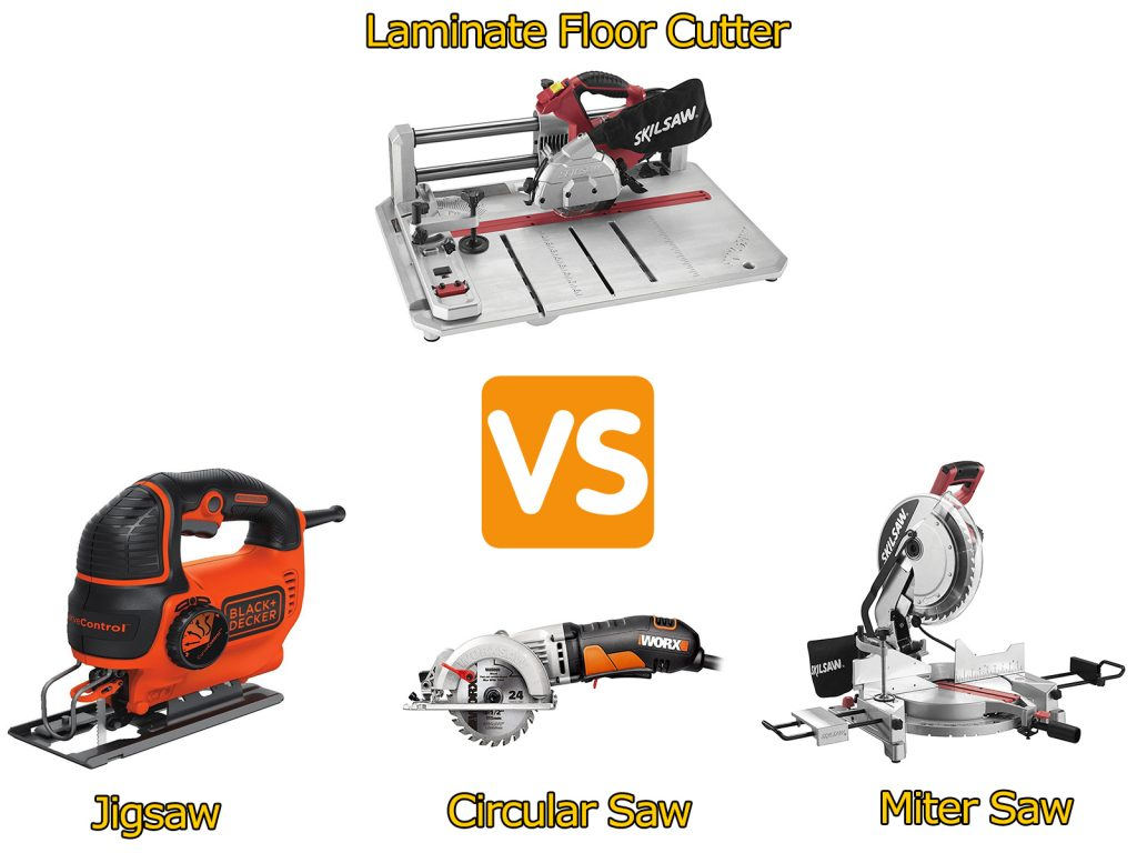 Laminate floor cutter vs jigsaw, miter saw, circular saw