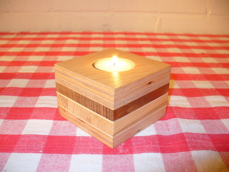 Candleholders From Scrap Wood