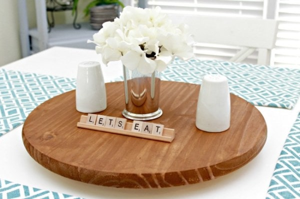 DIY Lazy Susan for Table Condiments