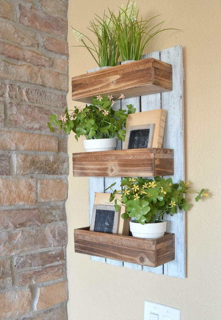 DIY Wooden Wall Planter