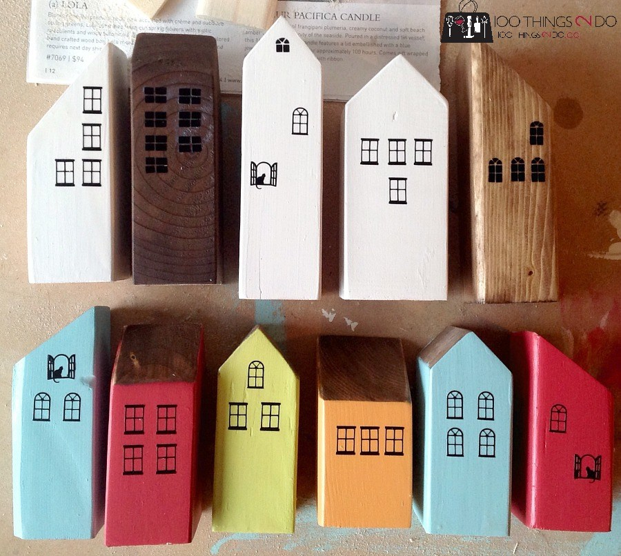 Scrap Wood Decor – Mini Houses