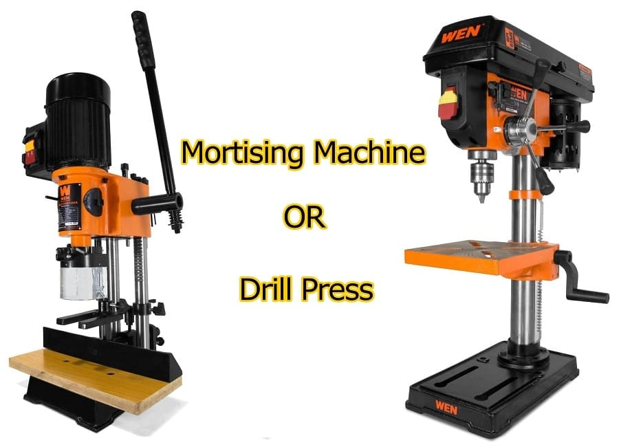 Mortising Machine vs. Drill Press