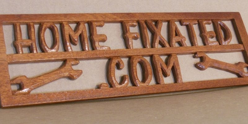 3D Carved Wooden Sign