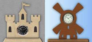 Castle and Dutch Windmill Mini Clock Patterns