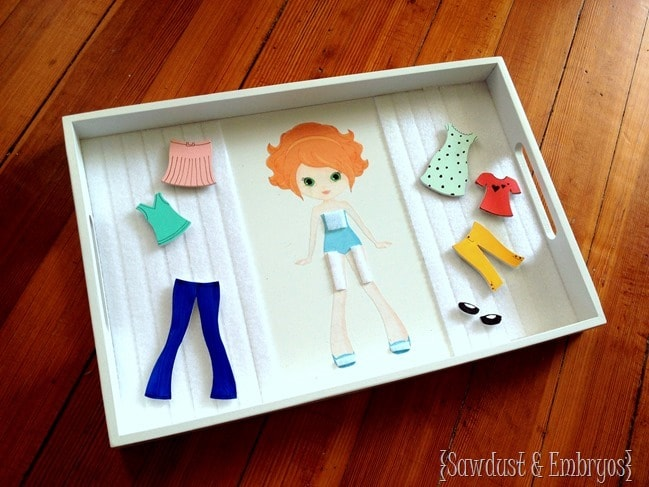 DIY Wooden Paper Doll