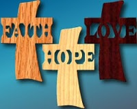 Faith, Hope and Love Crosses