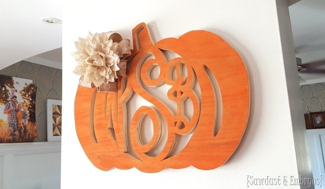 Fall-themed Monogram Wreaths