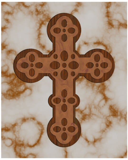 Layered Cross - Inspirational Scroll Saw Pattern