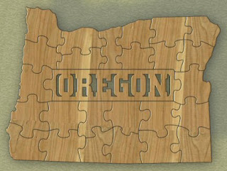 Oregon State Puzzle Pattern