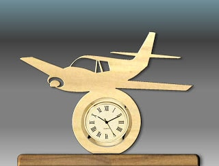 Small Plane Mini Clock Pattern
