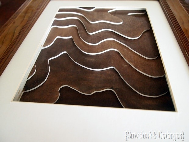 Wooden Topography Art Tutorial