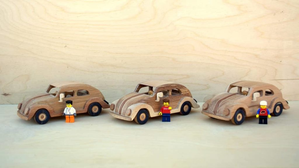 Wooden Toy Volkswagen Beetle