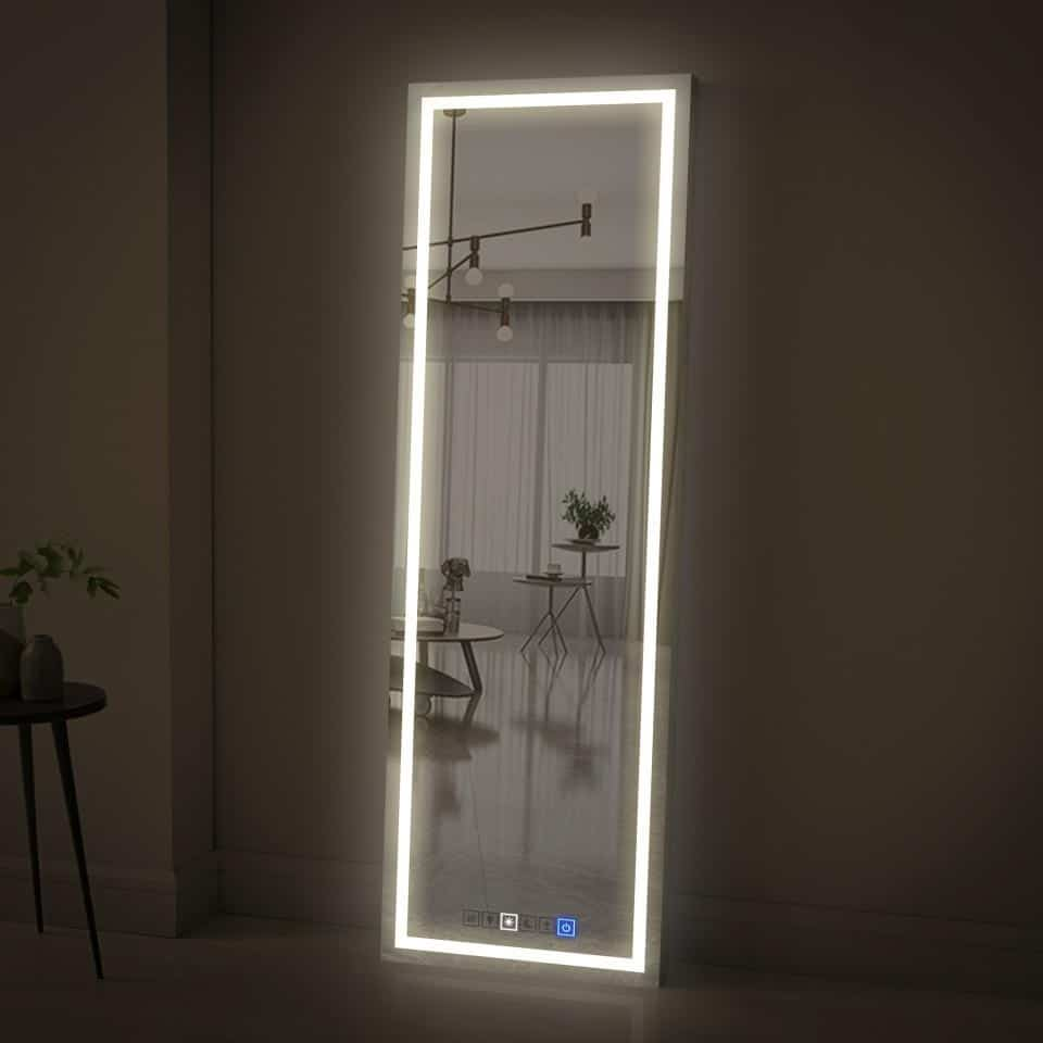 Full Length Mirror with Lights for Elegant Lighting and Wider Space